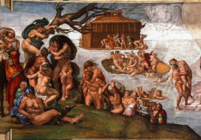 Gemälde Michelangelo The Flood